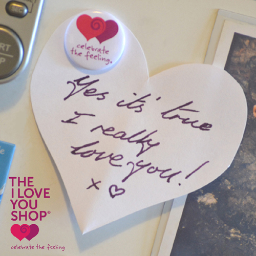 the i love you shop fridge magnet heart note celebratethefeeling theiloveyoushop